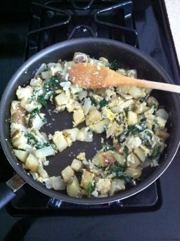 Add the eggs...