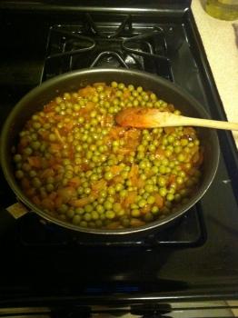 ...some peas...