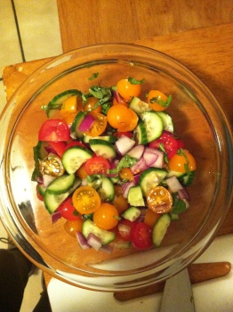 Veggies all chopped!