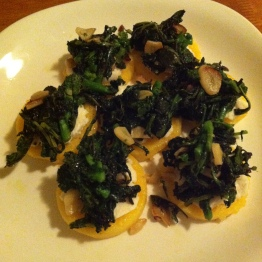 Polenta Roundels with Broccoli Rabe