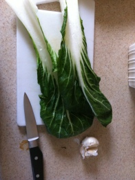 Bok choy at the ready!