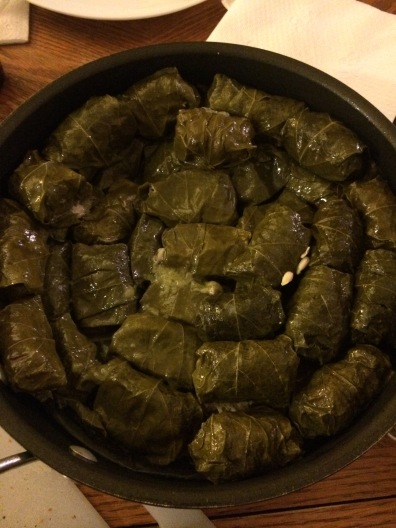 Stovetop Turkey Stuffed Grape Leaves