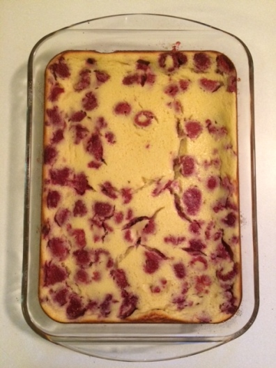 Raspberry-Lemon Clafouti on PhD Kitchen!