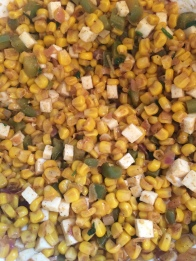 Quickie Corn Salad, on PhD Kitchen